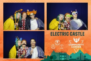 Photo booth by Beard Brothers at Electric Castle